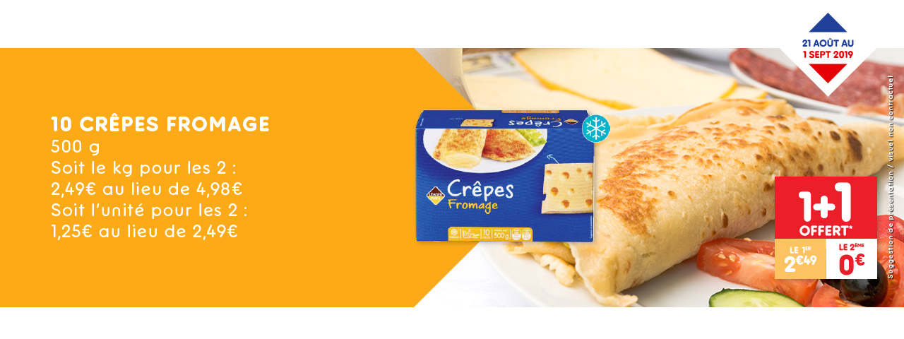 10 crêpes fromage