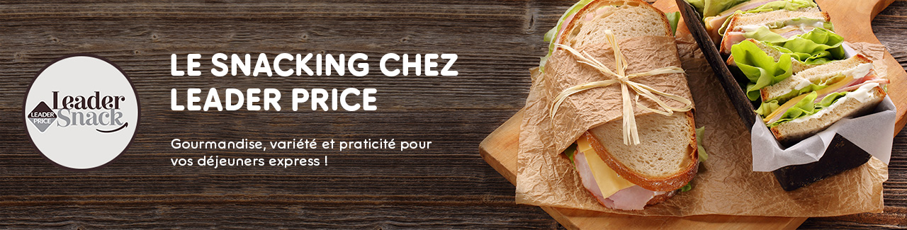 Le Snacking chez Leader Price